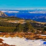 Vue imprenable sur la chaîne des Alpes